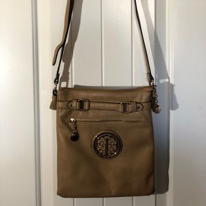 Maurices Tan Leather Split Crossbody